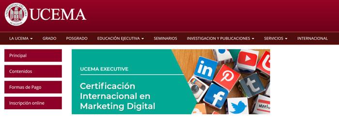 ucema universidad argentina certificado internacional marketing digital
