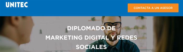 diplomado marketing digital unitec mexico