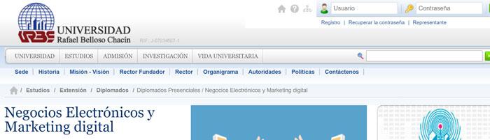 negocios electronicos y markeitng digital en urbe universidad venezuela